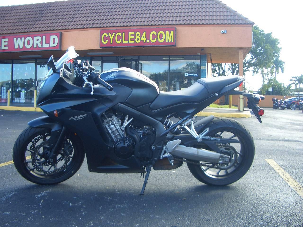 2014 Honda Cbr 650f Abs Matte Black Metallic Motorcycles Fort Lauderdale Florida 28tks