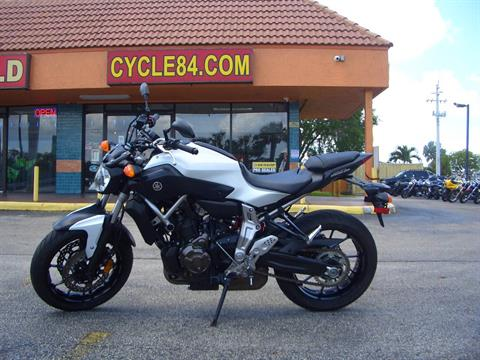 2015 Yamaha FZ-07 in Fort Lauderdale, Florida