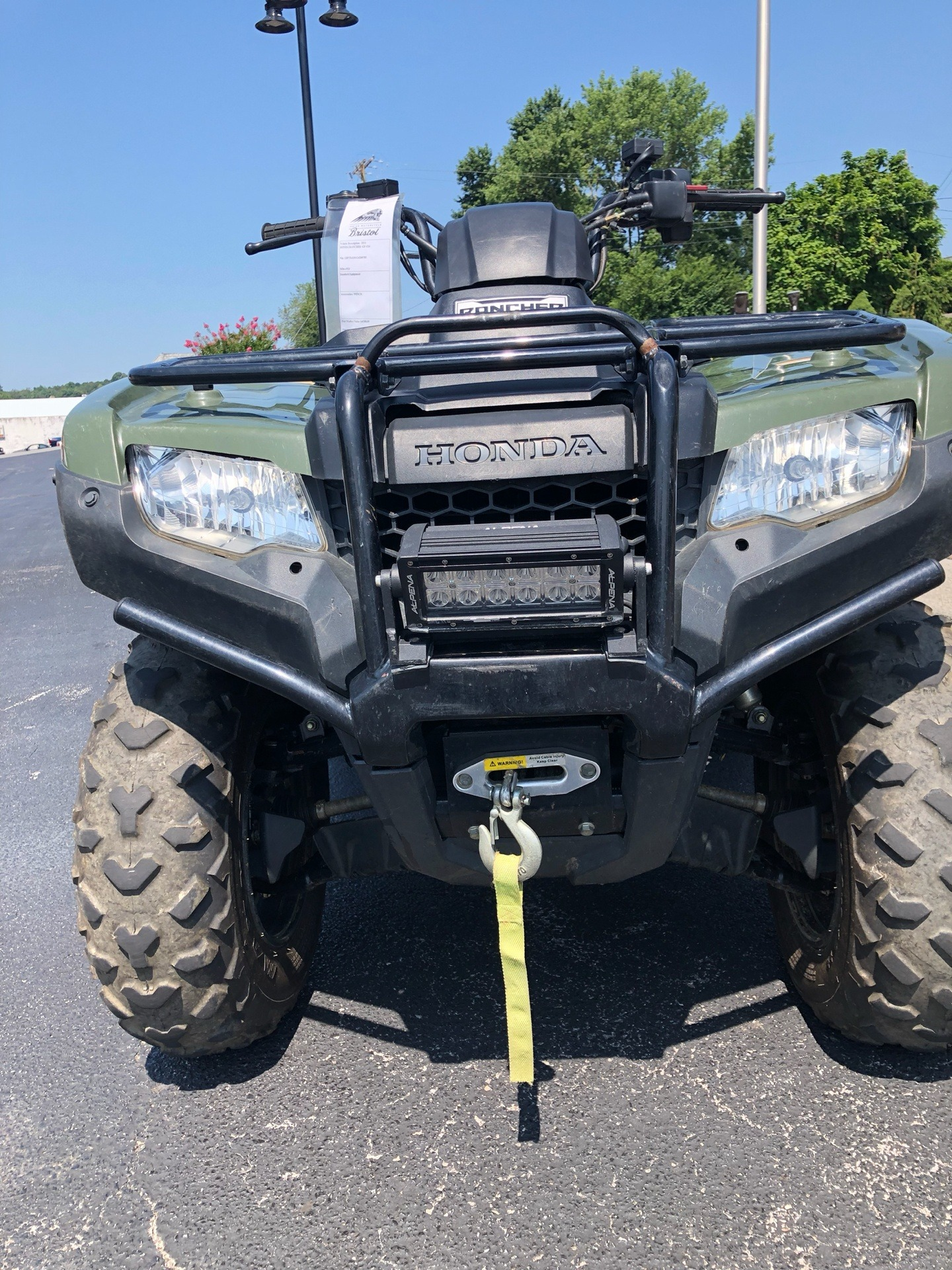 2016 Honda FourTrax Rancher 4X4 Automatic DCT in Bristol, Virginia - Photo 2