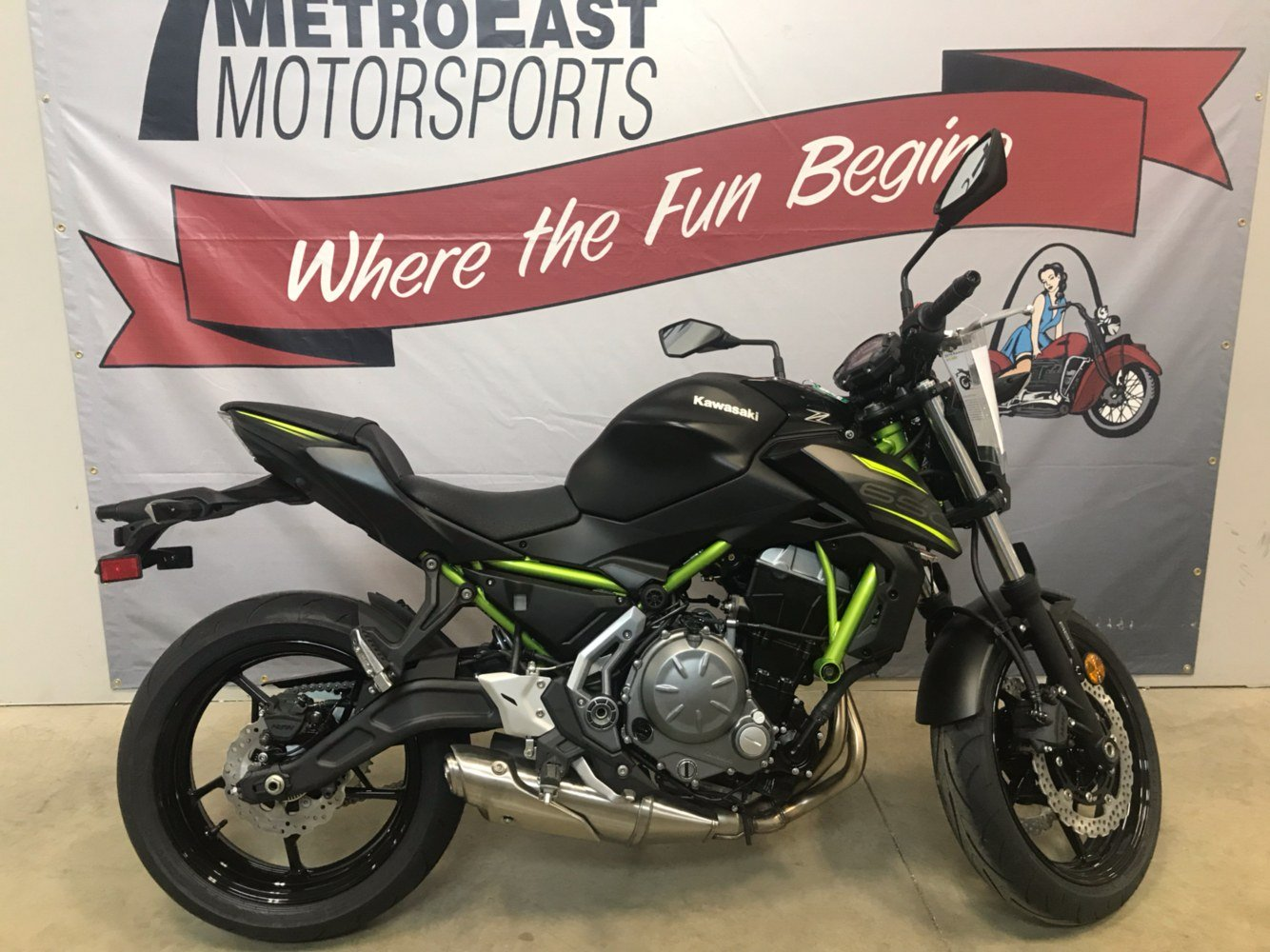 2019 Kawasaki Z650 ABS in O Fallon, Illinois