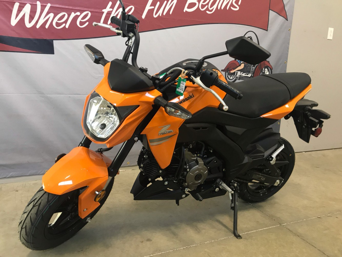 2019 Kawasaki Z125 Pro in O Fallon, Illinois