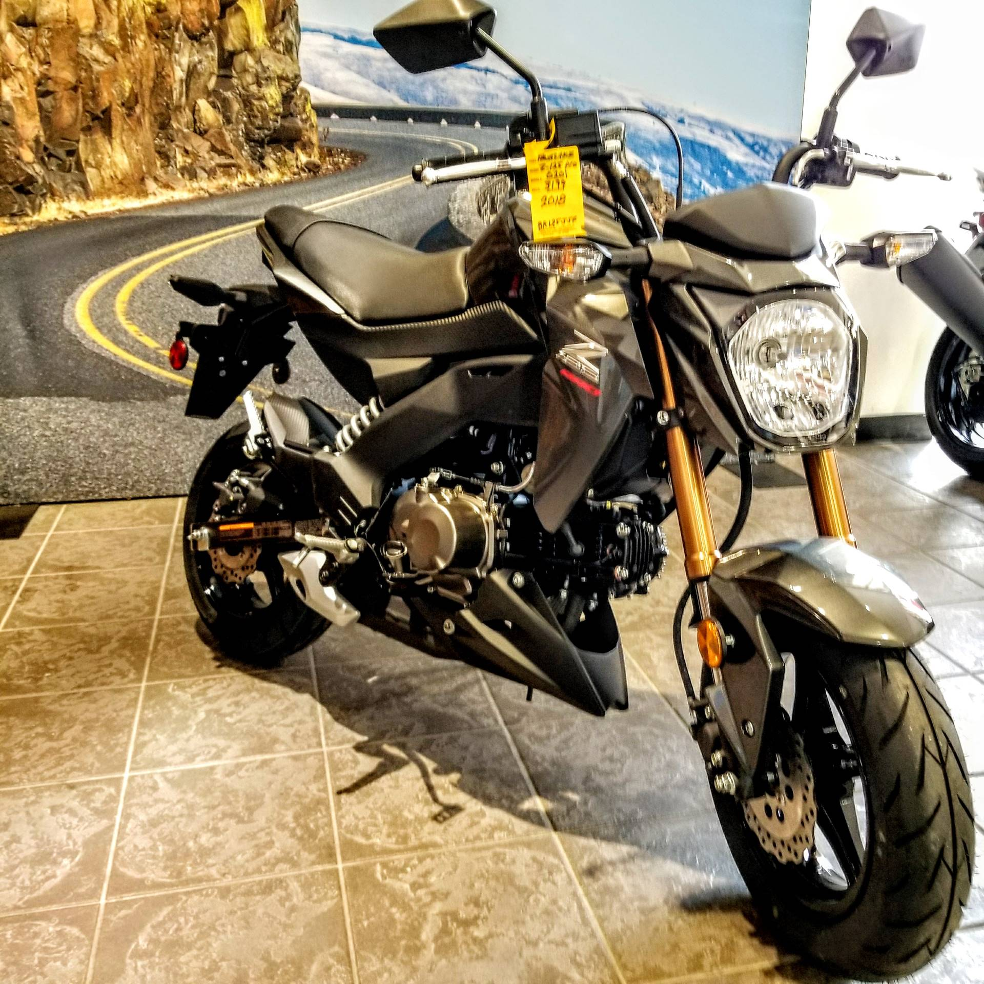 New 2018 Kawasaki Z125 Pro Motorcycles in Hickory, NC | Stock Number