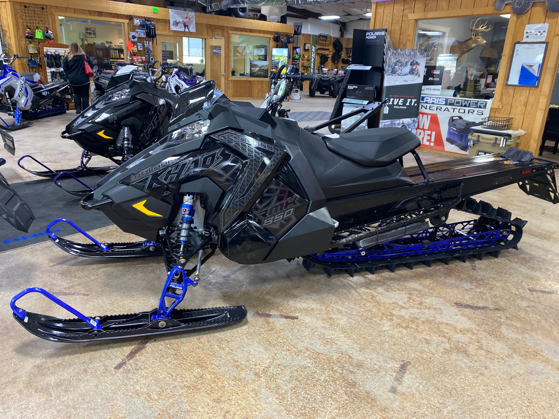 2021 Polaris 850 RMK KHAOS 155 2.6 in. Factory Choice in Cottonwood, Idaho - Photo 1