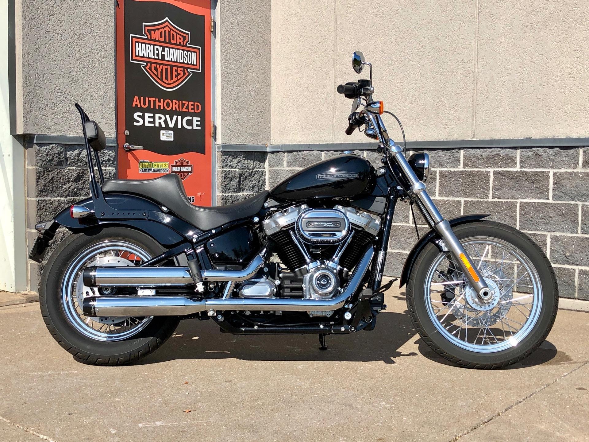 Used 2020 Harley Davidson Softail Standard Vivid Black Motorcycles In Coralville Ia M052694