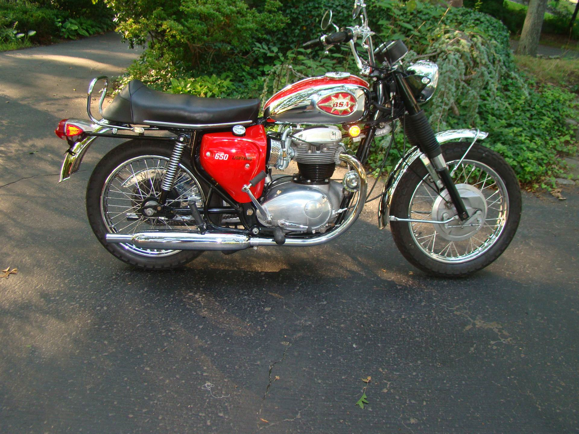 1969 BSA Lightning in Westfield, Massachusetts