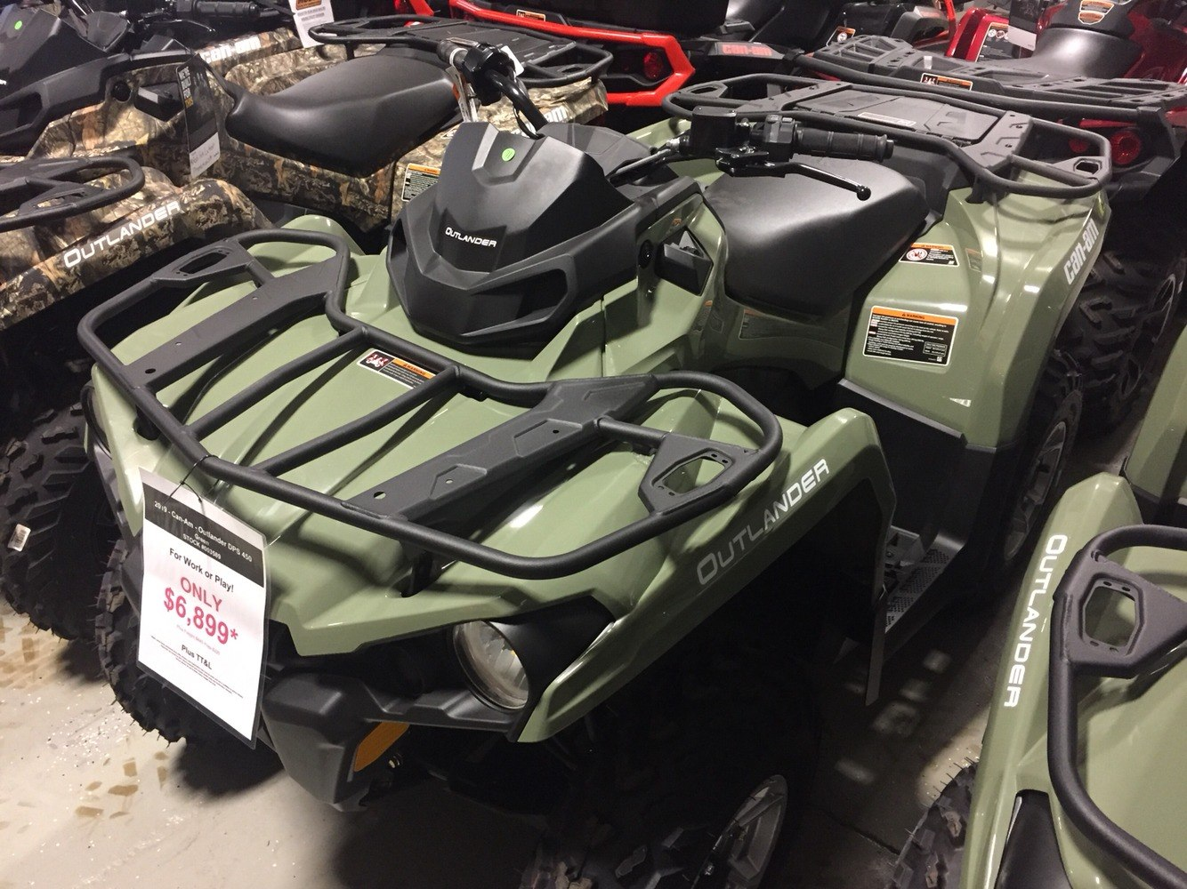 2019 Can-Am OUTLANDER DPS 450EFI in Waco, Texas