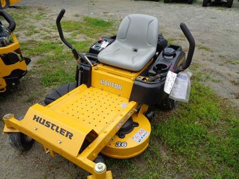 "2017 Hustler Turf Equipment Raptor Kohler 6600 Series HD w/SC (19hp) 36"" in Hillsborough, New Hampshire"