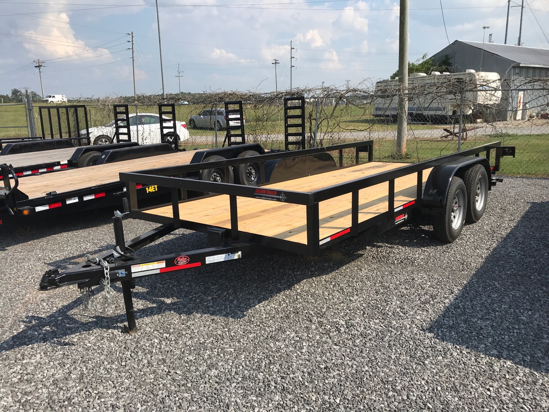 2019 Caliber 6.5 x 16' utility trailer w/ramp in Leesburg, Alabama