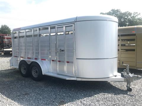 "2018 Circle W Trailers, Inc. TRAILER 6'8""X6'6""X16' LLIVESTOCK in Rome, Georgia"