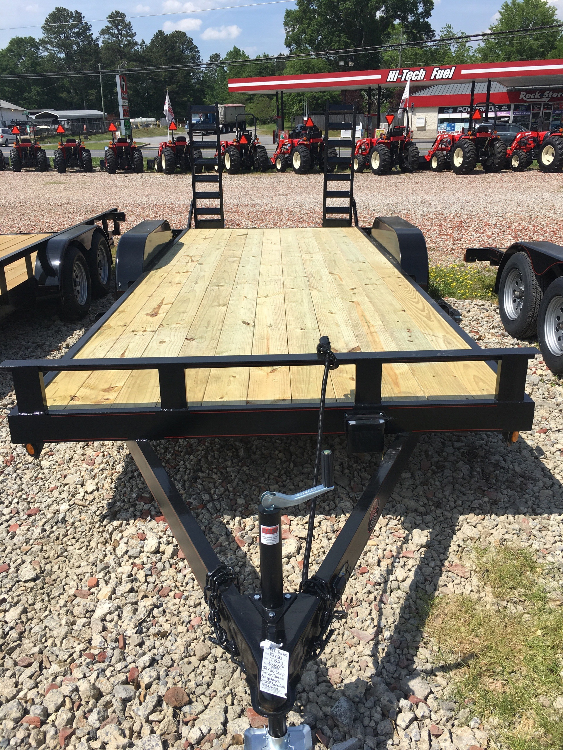 2019 P & T Trailer Sales, Inc. 82X20 EQUIPMENT TRAILER DOVE TAIL W/BAR RAMPS in Rome, Georgia