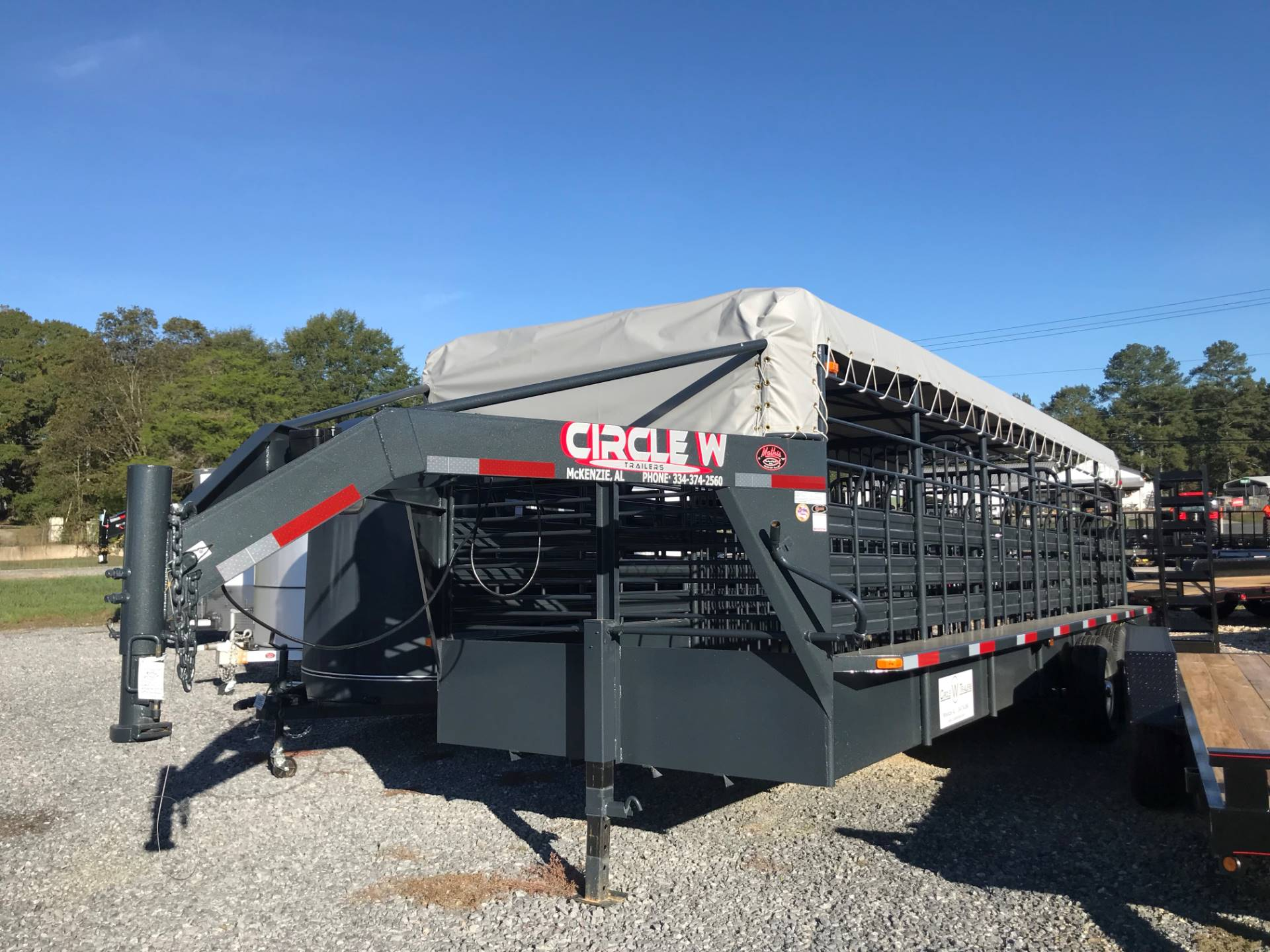 "2018 Circle W Trailers, Inc. 6'8""X6'6""X24' GN LIVESTOCK in Rome, Georgia"