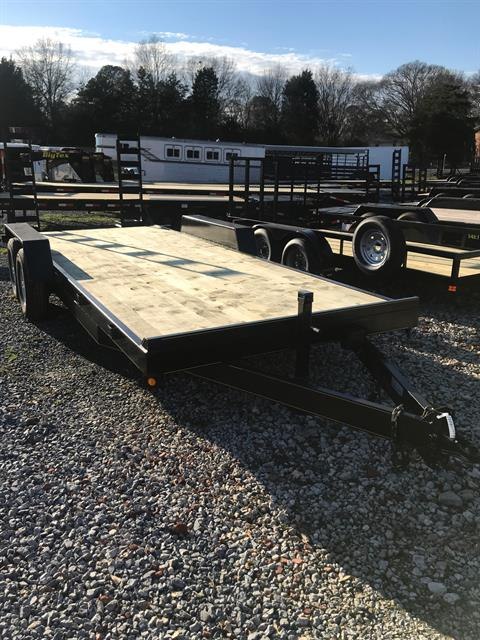 2019 P & T Trailer Sales, Inc. 82X18+2 EQUIPMENT DOVE TAIL W/RAMPS 2-7000# AXLES  in Rome, Georgia