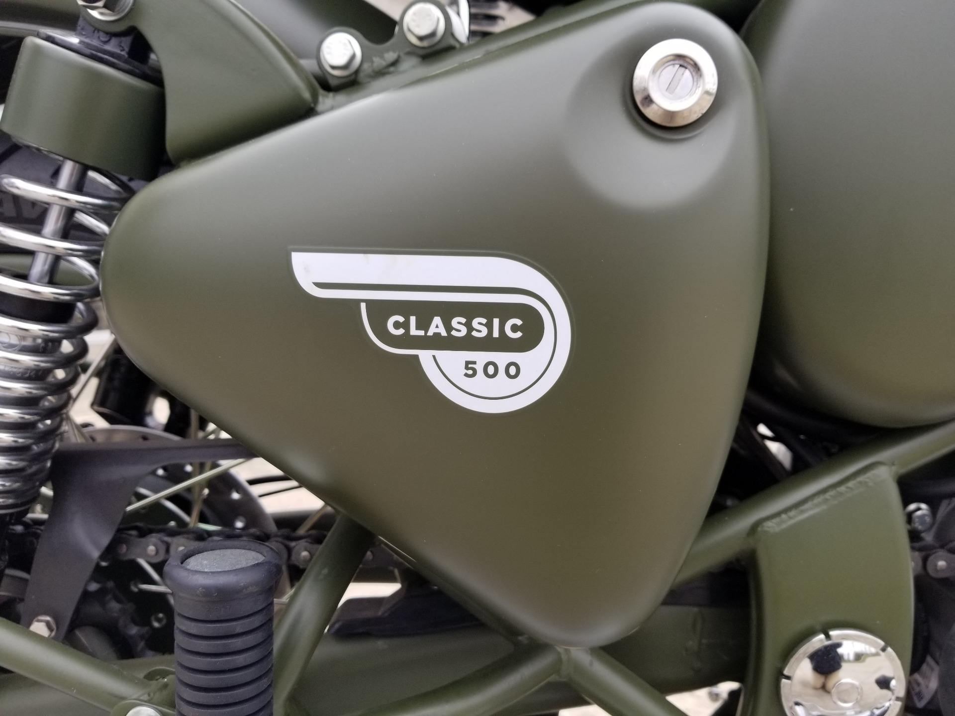 2019 Royal Enfield Classic 500 Battle Green in Aurora, Ohio - Photo 6