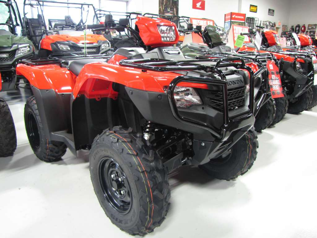 new 2016 honda fourtrax foreman 4x4 red (trx500fm1) atvs in ottawa, oh