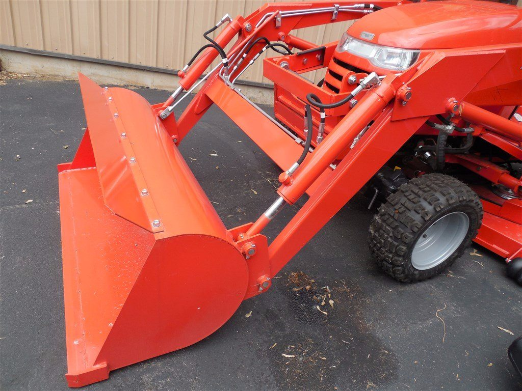 2014 simplicity legacy xl garden tractor series attachments loader front end 48 bucket