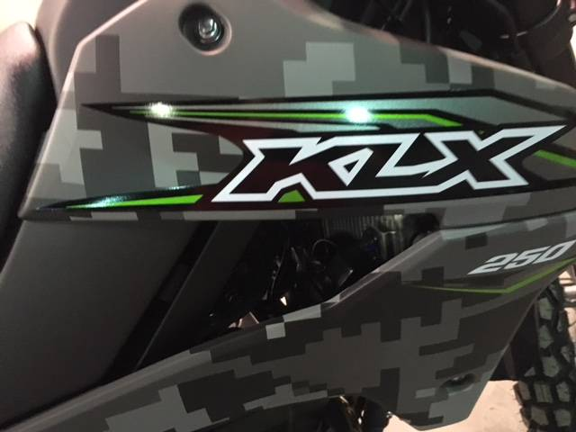 2019 Kawasaki KLX 250 Camo in Brilliant, Ohio - Photo 9