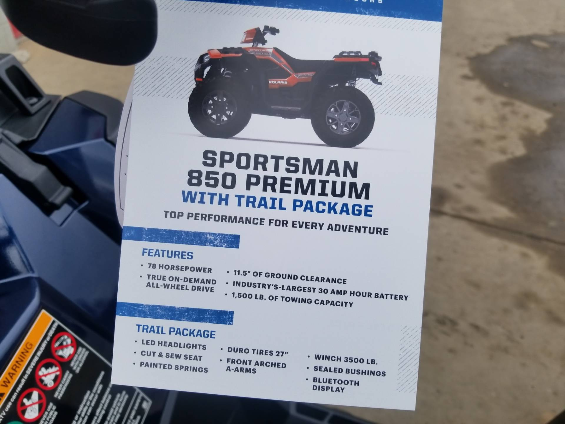 2020 Polaris Sportsman 850 Premium Trail Package in Brilliant, Ohio - Photo 14