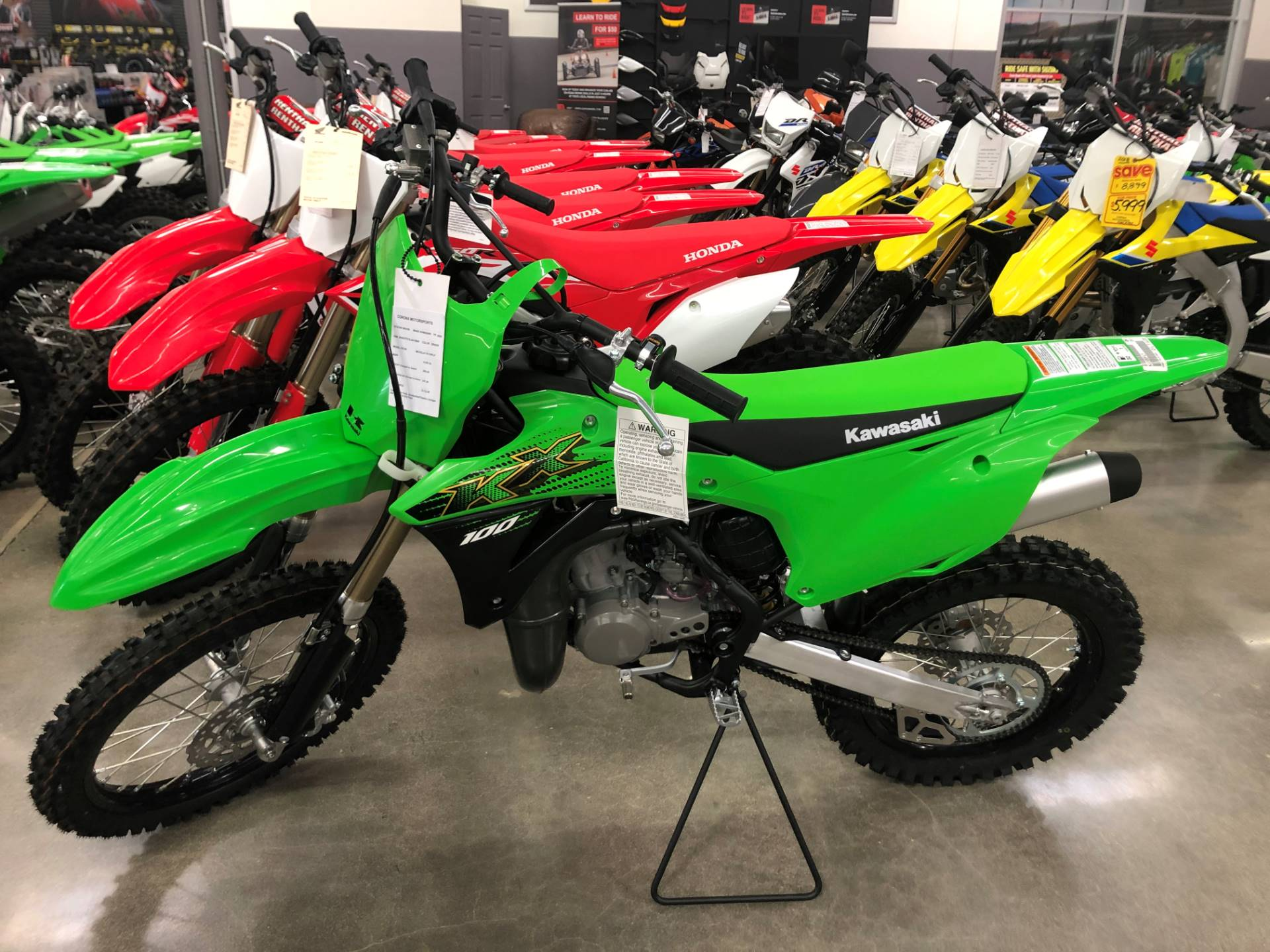 2020 Kawasaki KX 100 in Corona, California - Photo 1