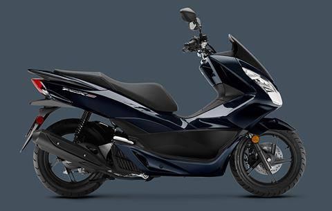 New 2018 Honda Pcx150 Scooters In Ontario Ca Ho18029 Dark Pearl Blue
