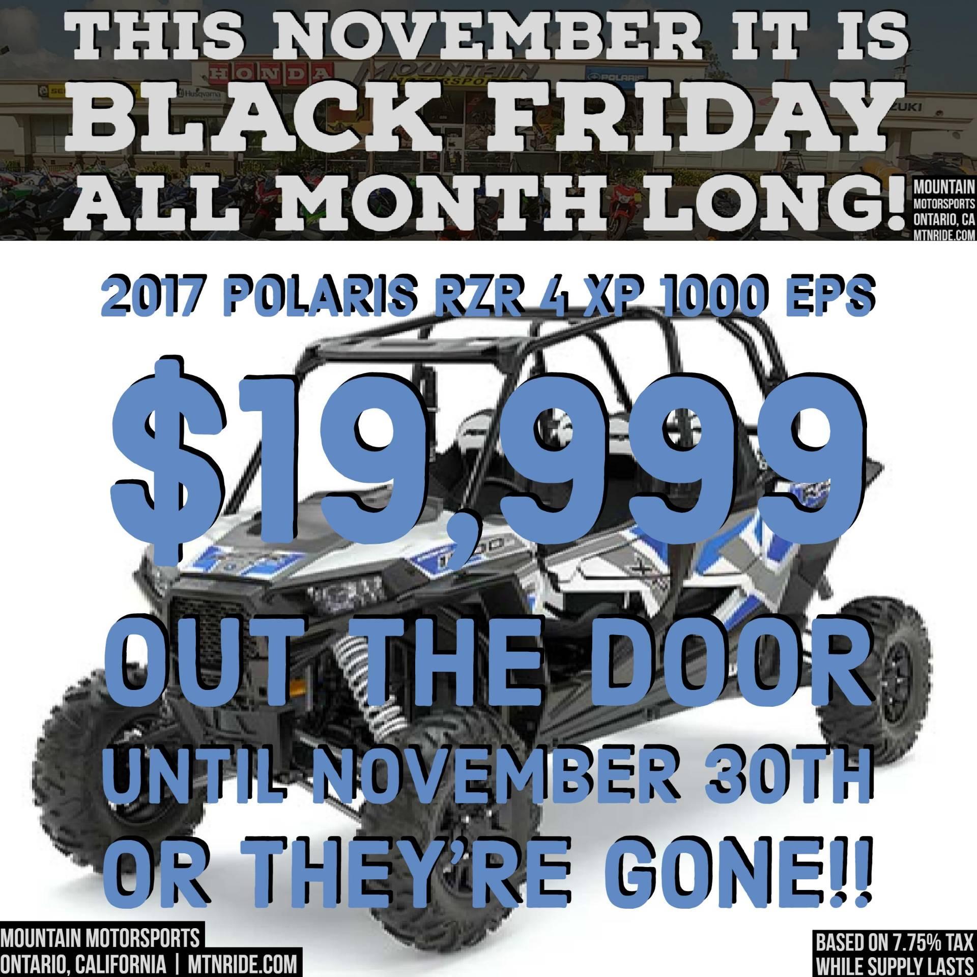 2017 Polaris RZR XP 4 1000 EPS 1