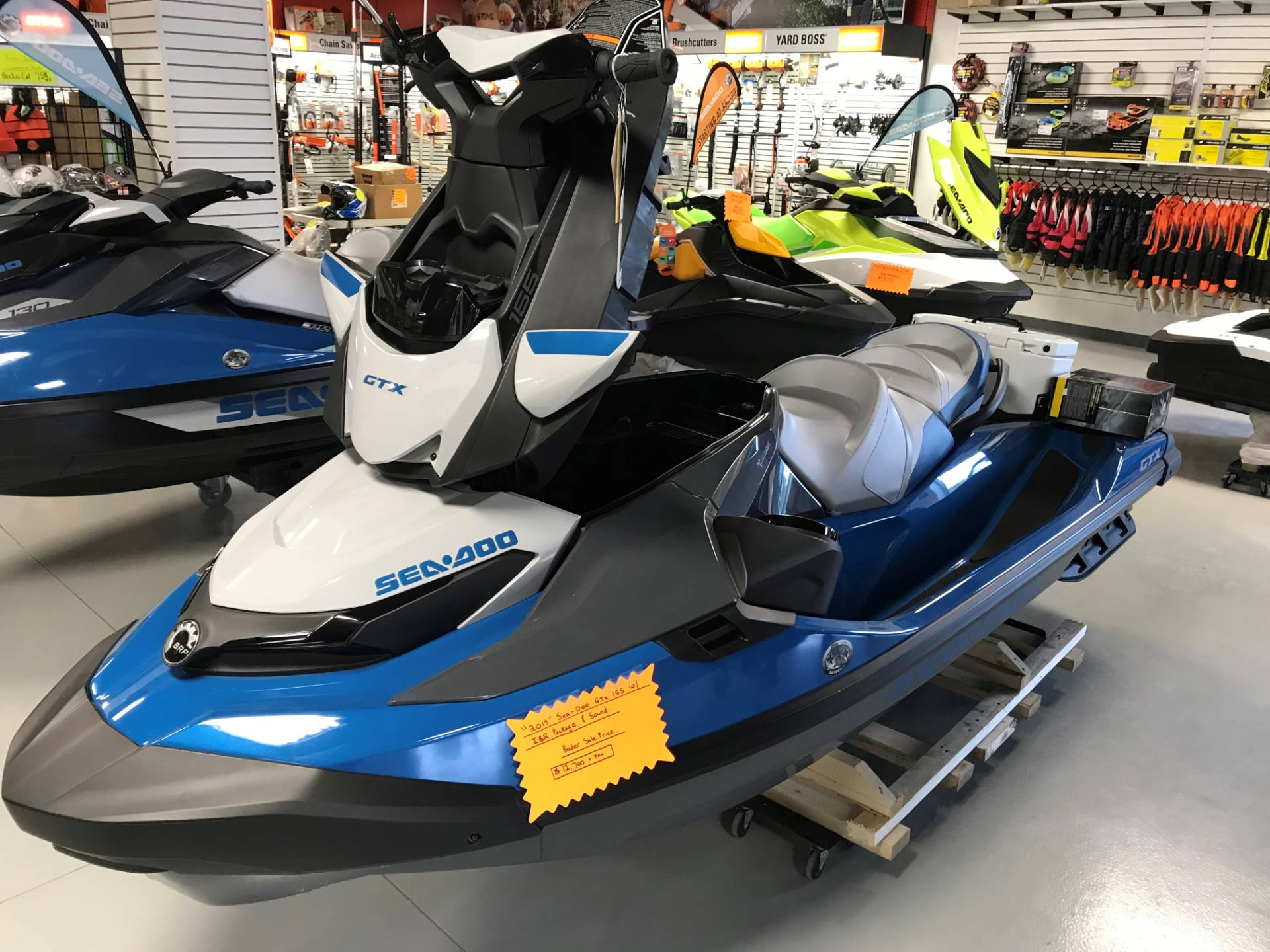 2019 Sea-Doo GTX 155 iBR + Sound System in Hillman, Michigan