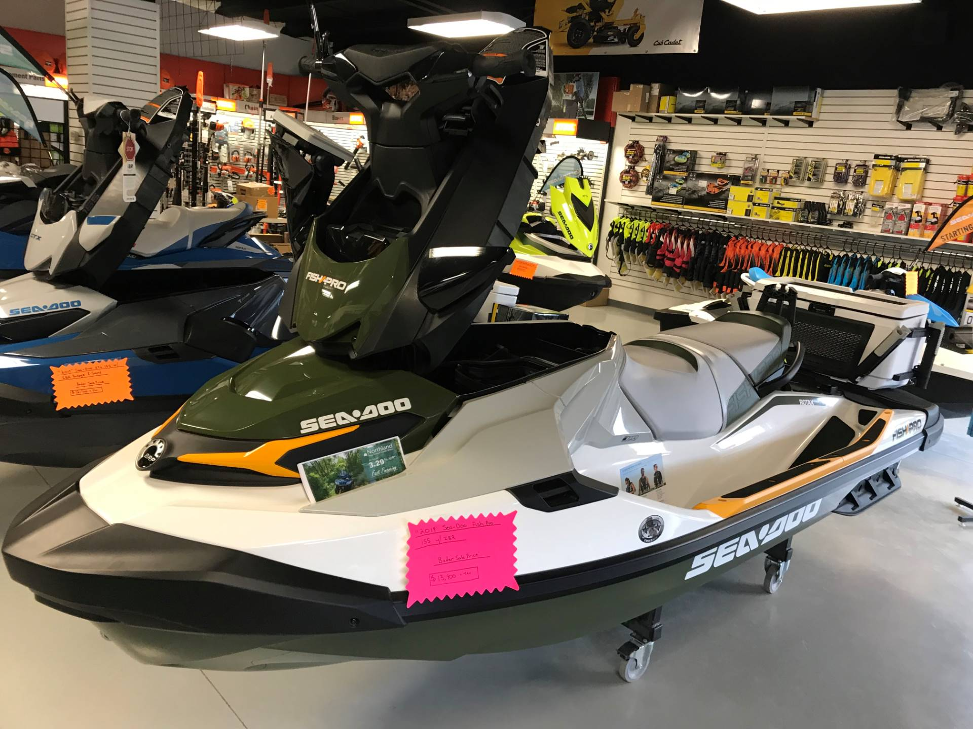 2019 Sea-Doo Fish Pro iBR in Hillman, Michigan