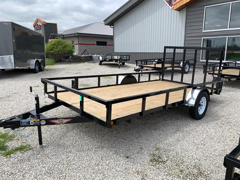 2019 H&H 82x14 STEEL RAIL SIDE in Ottumwa, Iowa