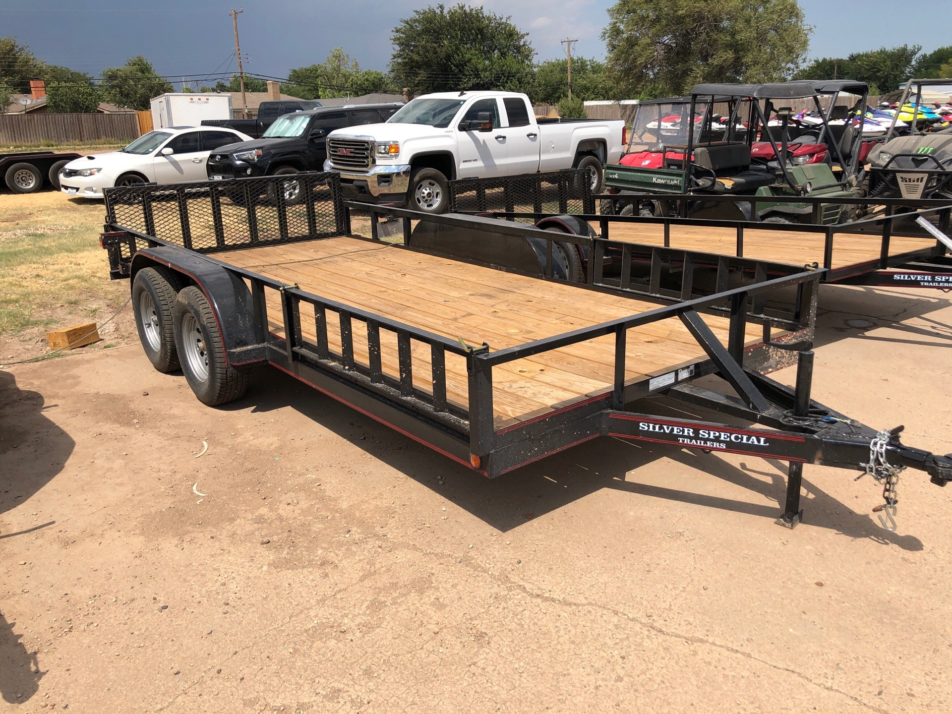 "2019 Silver Special Trailers LLC 16X83 Tandem w/ Electric Brake/ 48"" Bi-fold Gate in Amarillo, Texas"