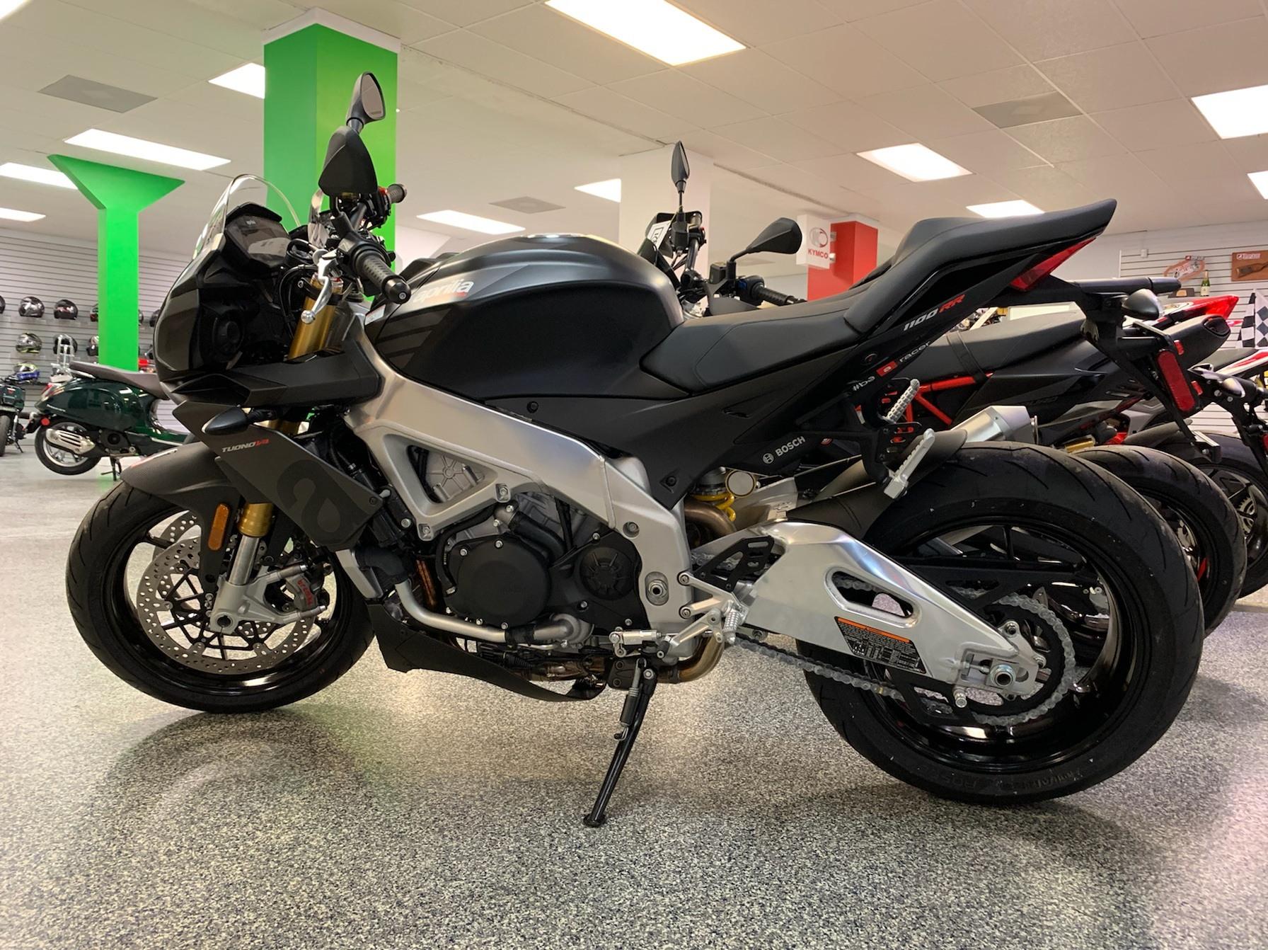 New 2019 Aprilia Tuono V4 1100 Rr Abs Motorcycles In Pensacola Fl 001126 Grigio Magny Cours