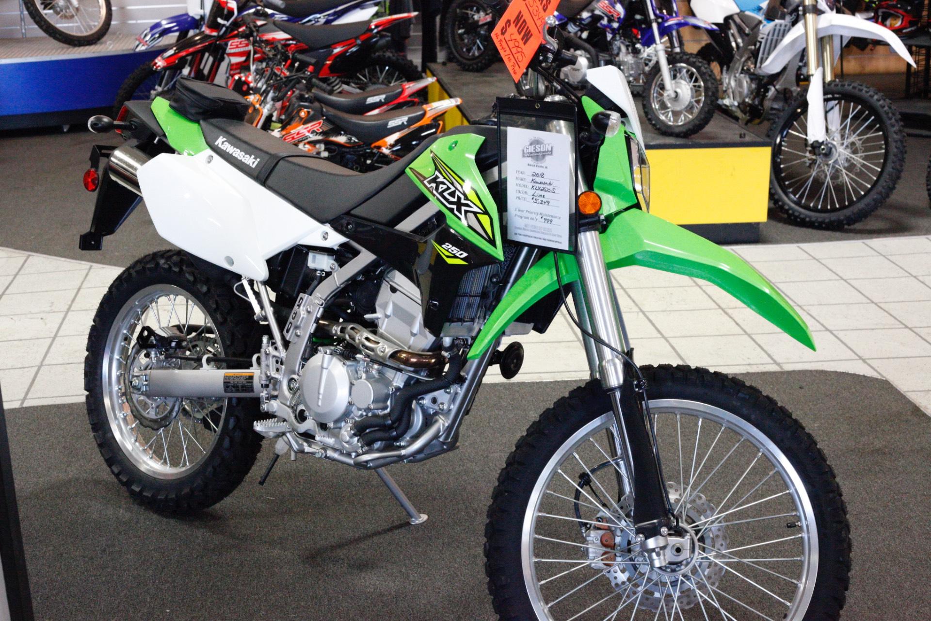 New 2018 Kawasaki Klx 250 Motorcycles In Rock Falls Il Wiring Harness Illinois