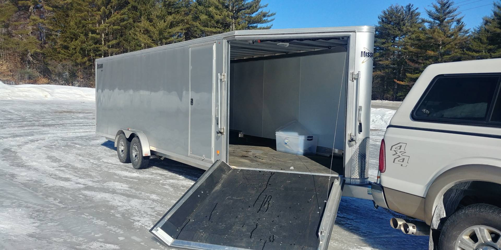 2016 E-Z Hauler 7.5x24 4 place in Tamworth, New Hampshire