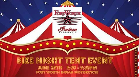 Bike Night Tent Event