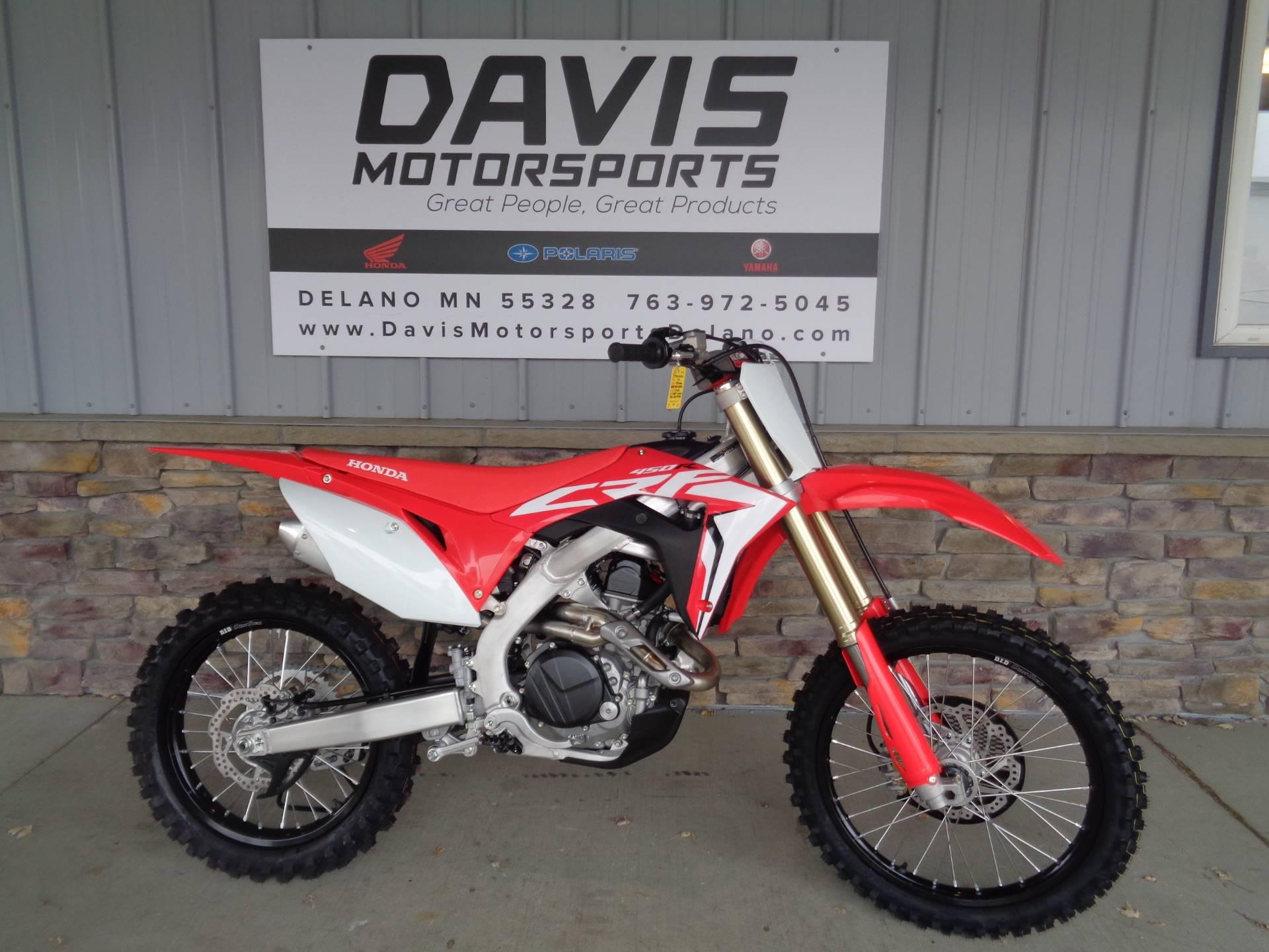 New 2019 Honda Crf450r Motorcycles In Delano Mn Na Red