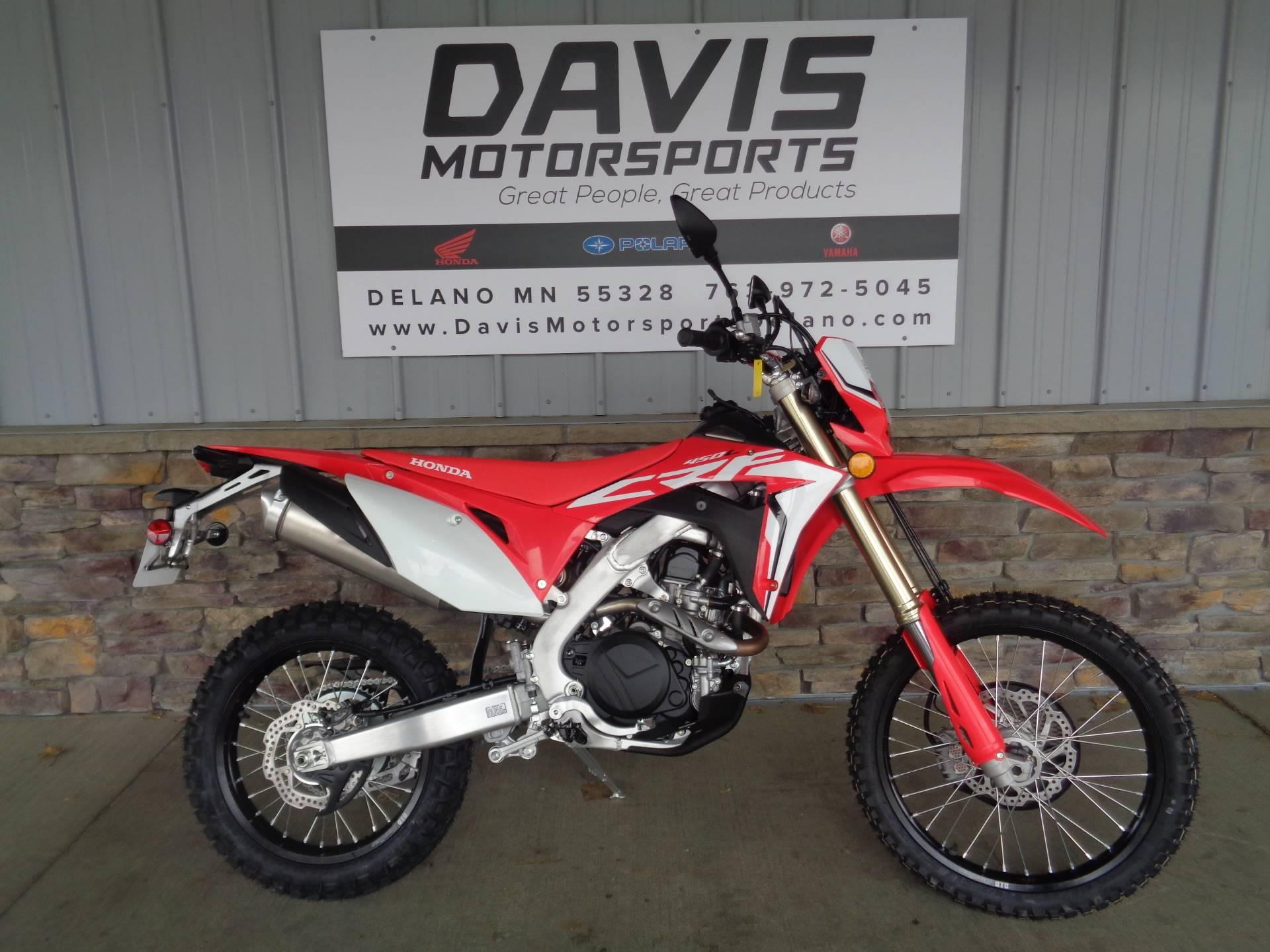 New 2019 Honda Crf450l Motorcycles In Delano Mn Na Red