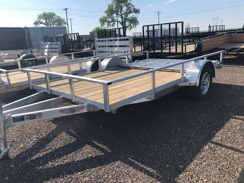 2018 H&H Trailers H&H H8212RSA-030 ALUMINUM SINGLE AXLE BALL TYPE UTILITY TRAILER in Scottsbluff, Nebraska