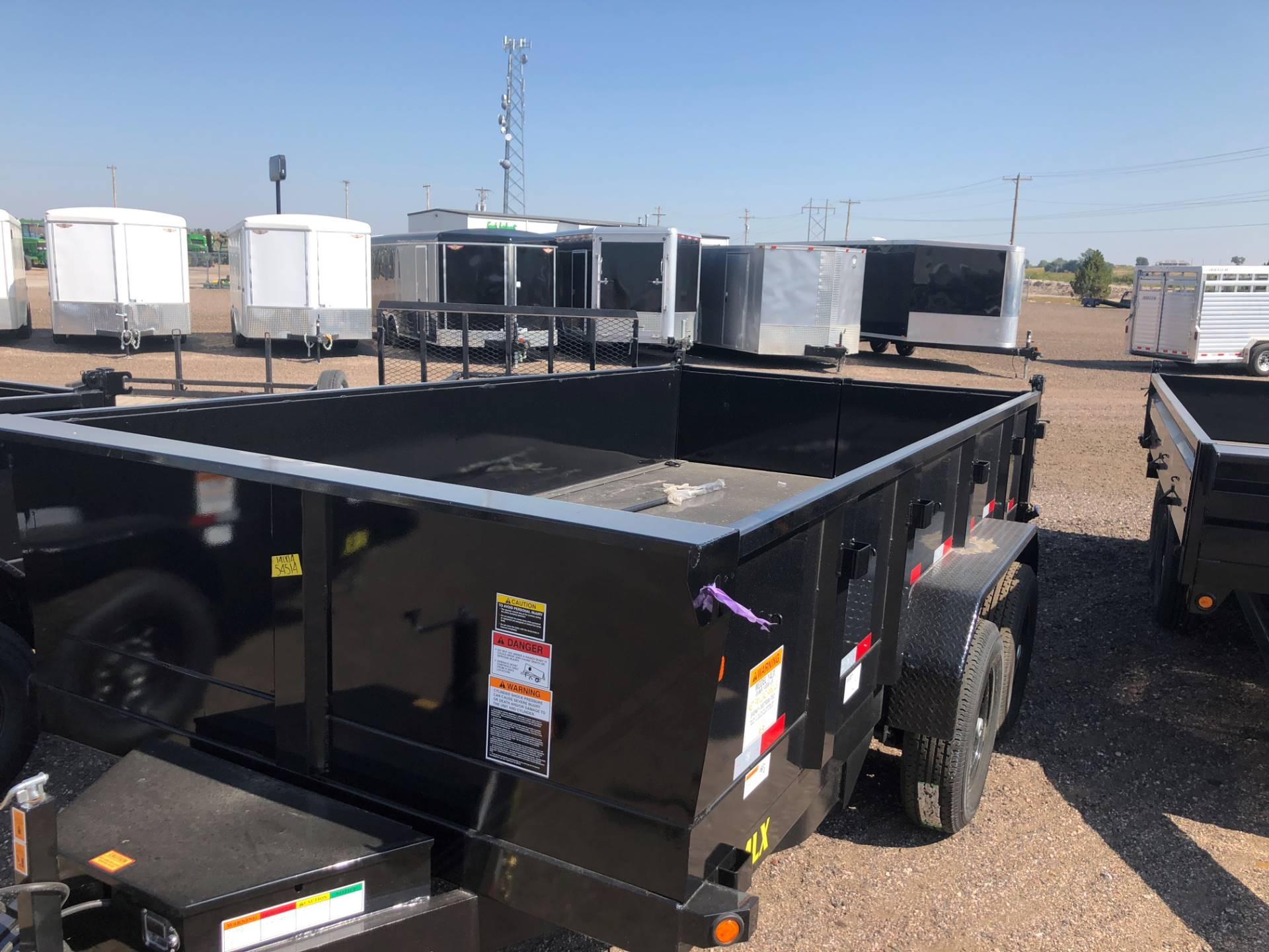 2019 Big Tex Trailers - Manufacturers BIG TEX 14' TANDEM G/N OA 14K W/FOLD DOWN SIDES DUMP TRAILER  in Scottsbluff, Nebraska