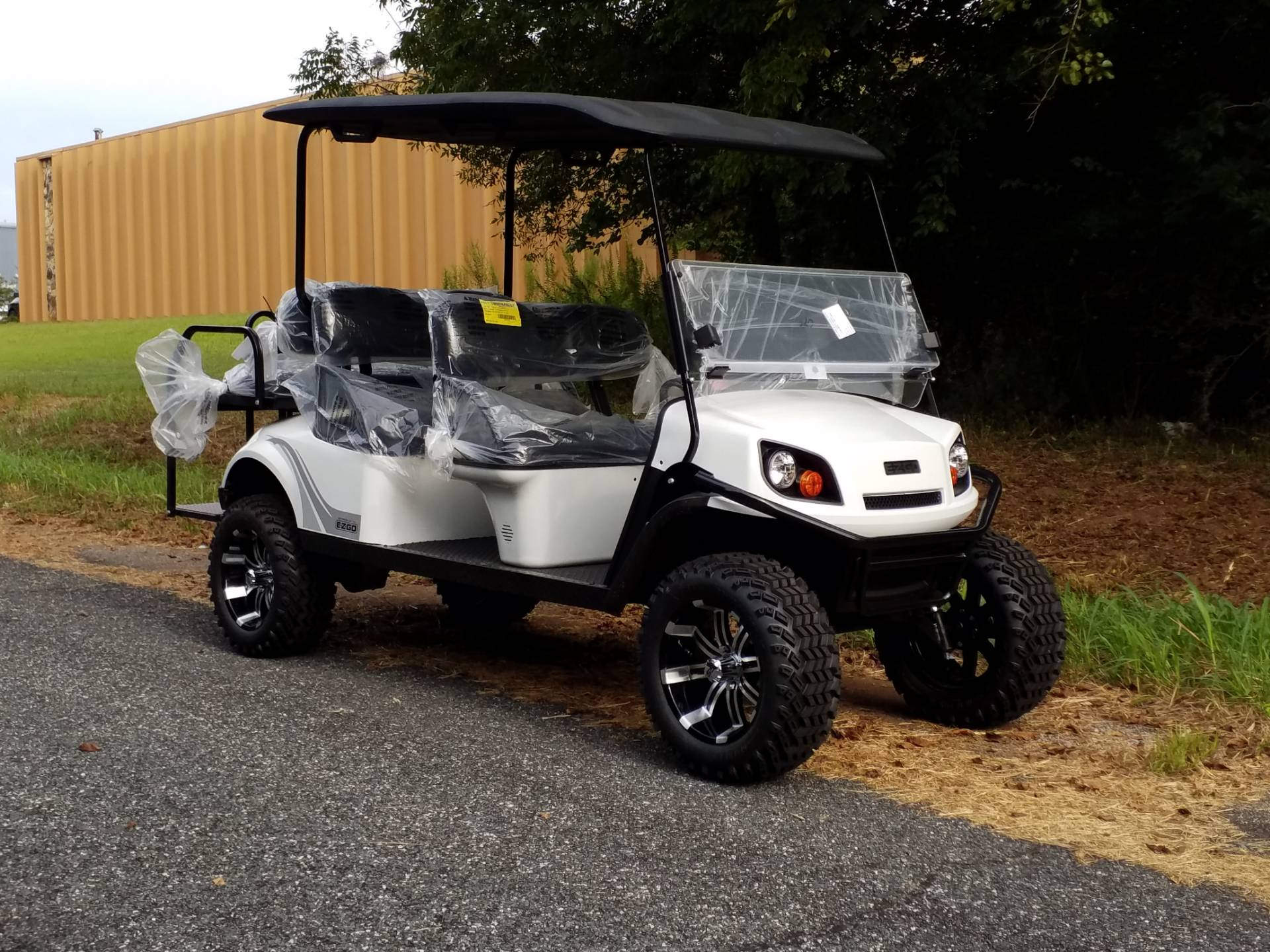 New 2019 E-Z-Go 72V Express L6 Electric Golf Carts in Covington, GA Ez Go Golf Cart Seat Diions Six on