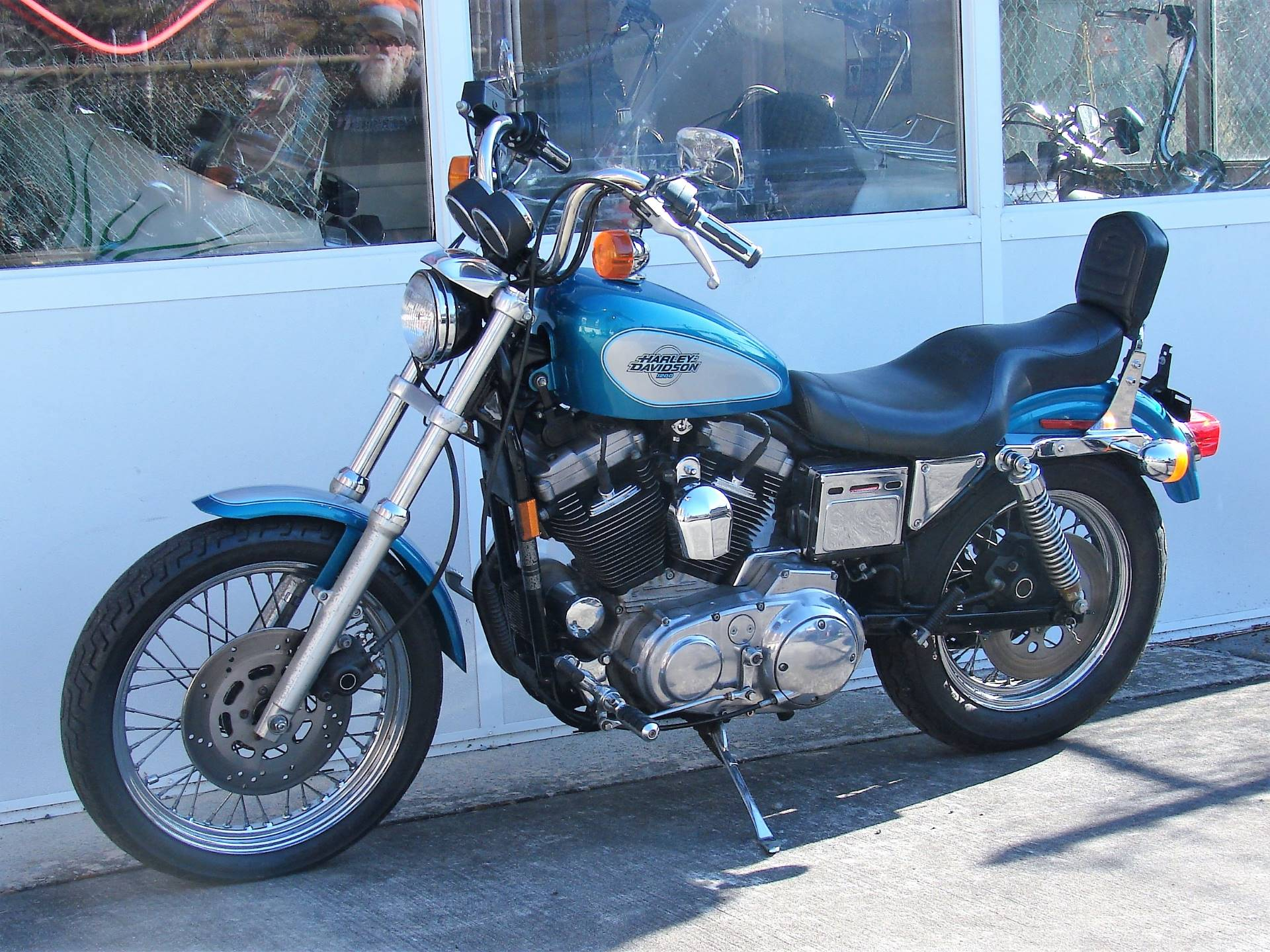 1995 Harley-Davidson 1200 Sportster  (Teal Blue and Silver) in Williamstown, New Jersey - Photo 8