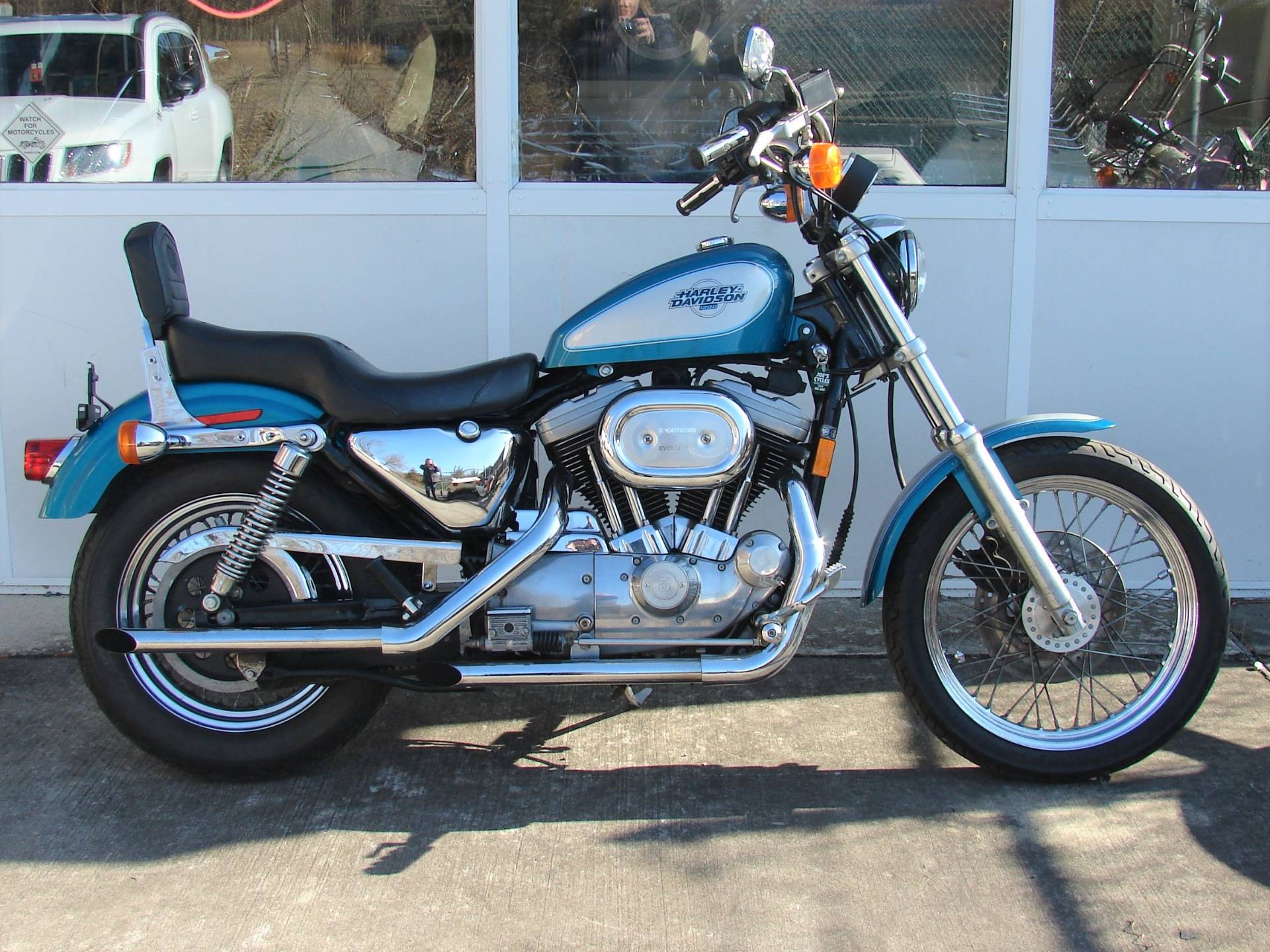 1995 Harley-Davidson 1200 Sportster  (Teal Blue and Silver) in Williamstown, New Jersey - Photo 13