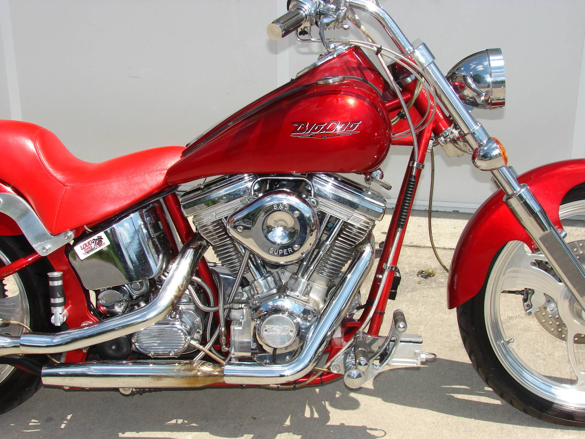 2002 Big Dog Motorcycles Bull Dog  -  (w/ Candy Apple Red Metallic Paint) in Williamstown, New Jersey
