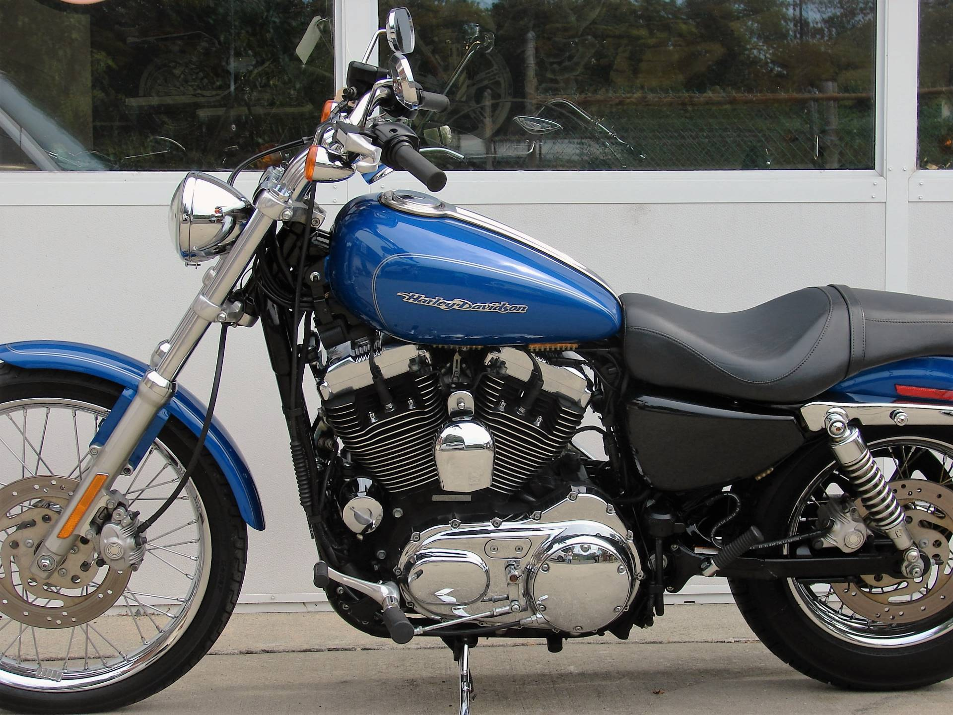 2007 Harley-Davidson XL 1200cc Sportster  (Blue w/ Silver Pinstripe) in Williamstown, New Jersey