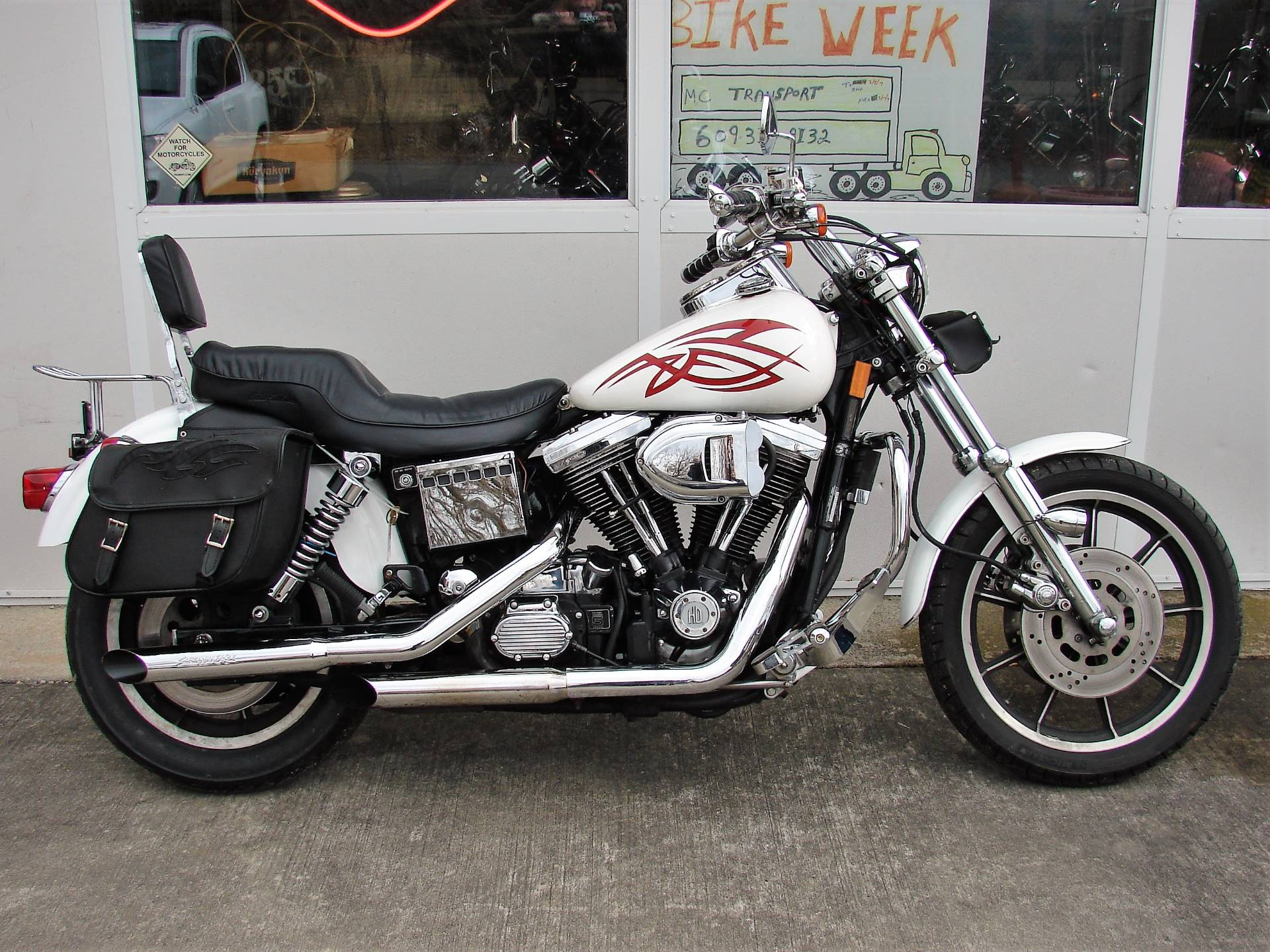 1995 Harley-Davidson Harley FXDL Dyna Low Rider  (White with Red Tribal) in Williamstown, New Jersey - Photo 1