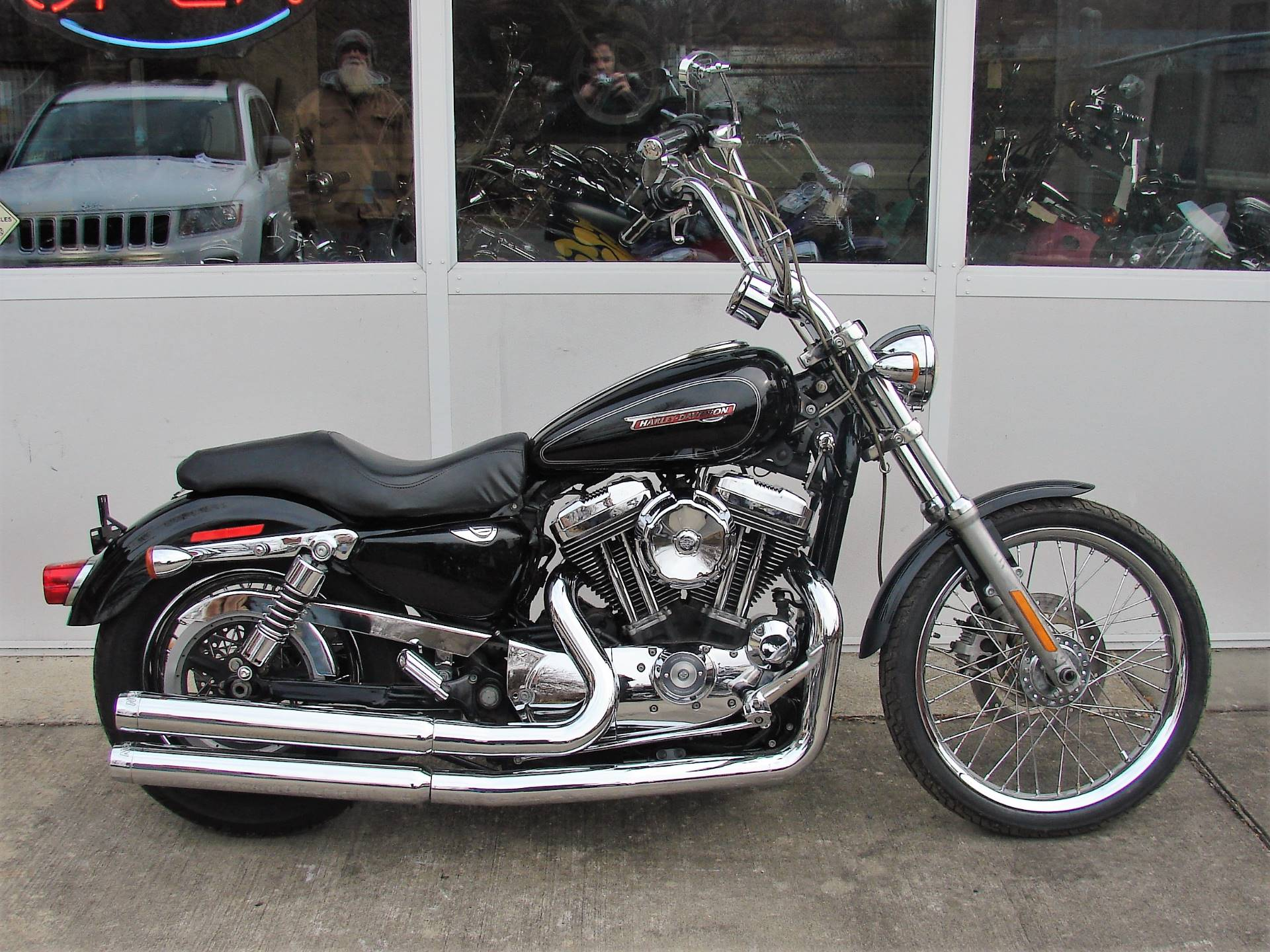 2008 Harley-Davidson 1200cc Sportster  (Black with Silver Pinstripe) in Williamstown, New Jersey - Photo 1