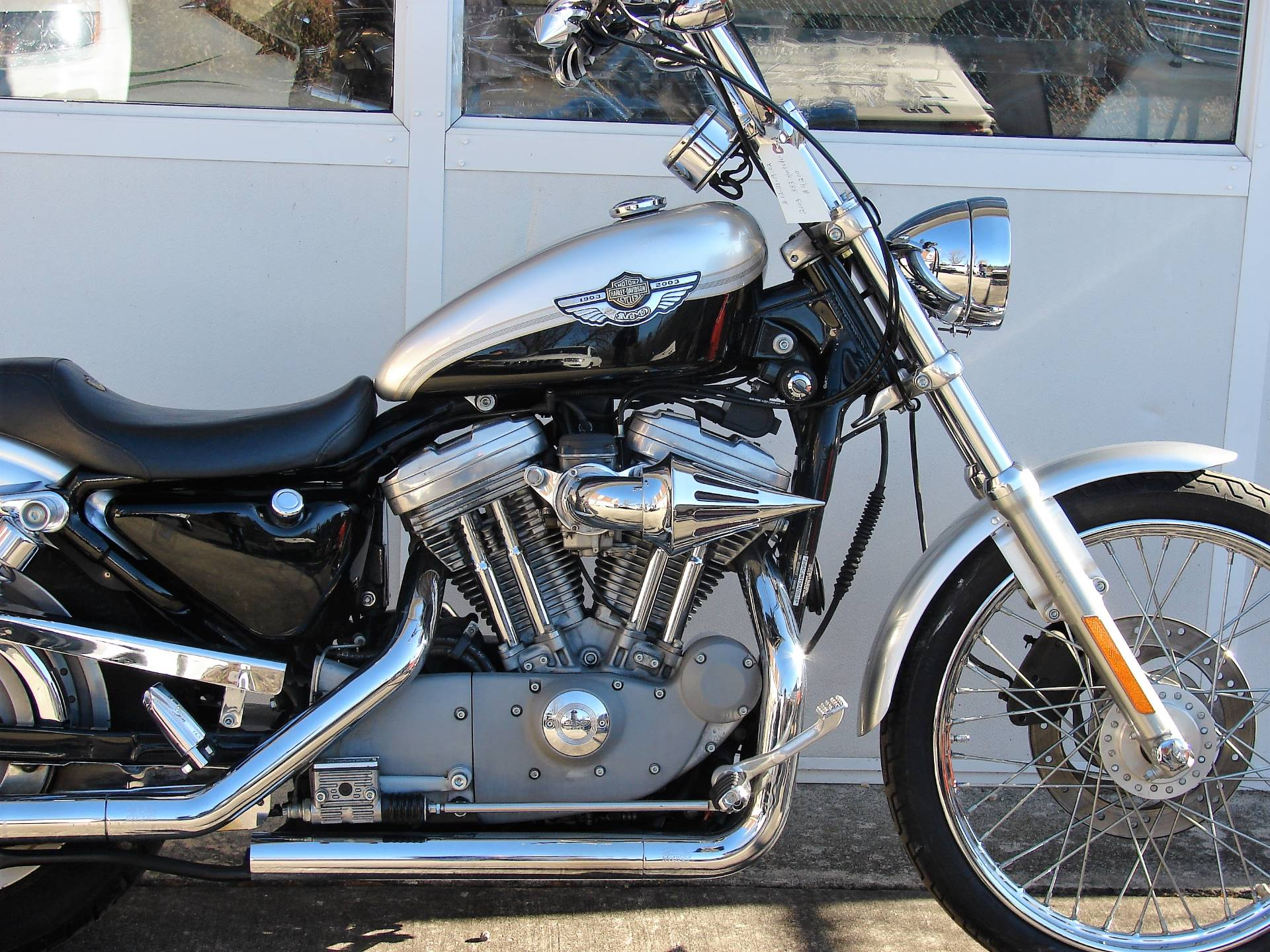 2003 Harley-Davidson XLH 883 Sportster (Anniversary Edition) (Silver & Black) in Williamstown, New Jersey - Photo 2