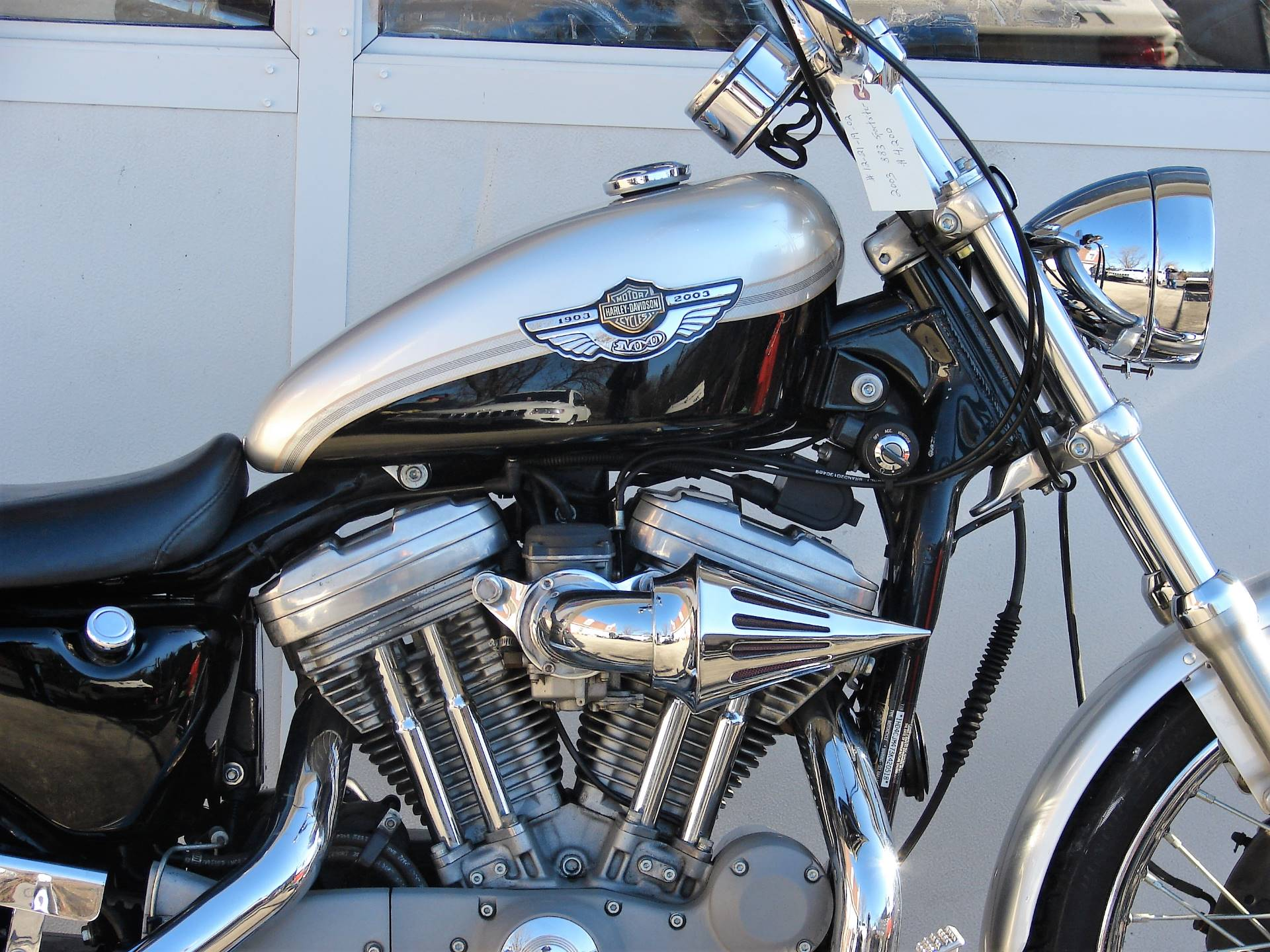 2003 Harley-Davidson XLH 883 Sportster (Anniversary Edition) (Silver & Black) in Williamstown, New Jersey - Photo 3