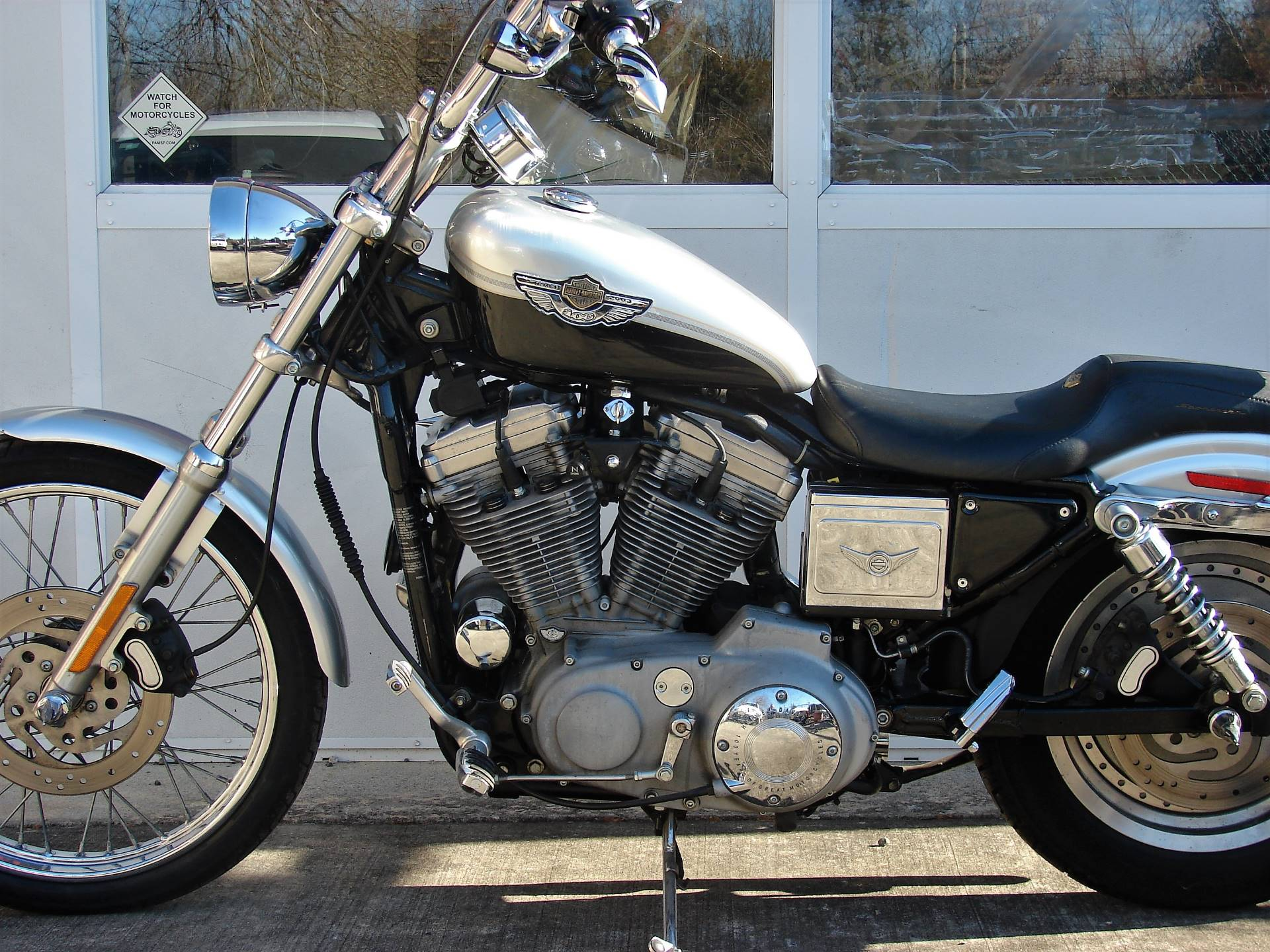 2003 Harley-Davidson XLH 883 Sportster (Anniversary Edition) (Silver & Black) in Williamstown, New Jersey - Photo 7