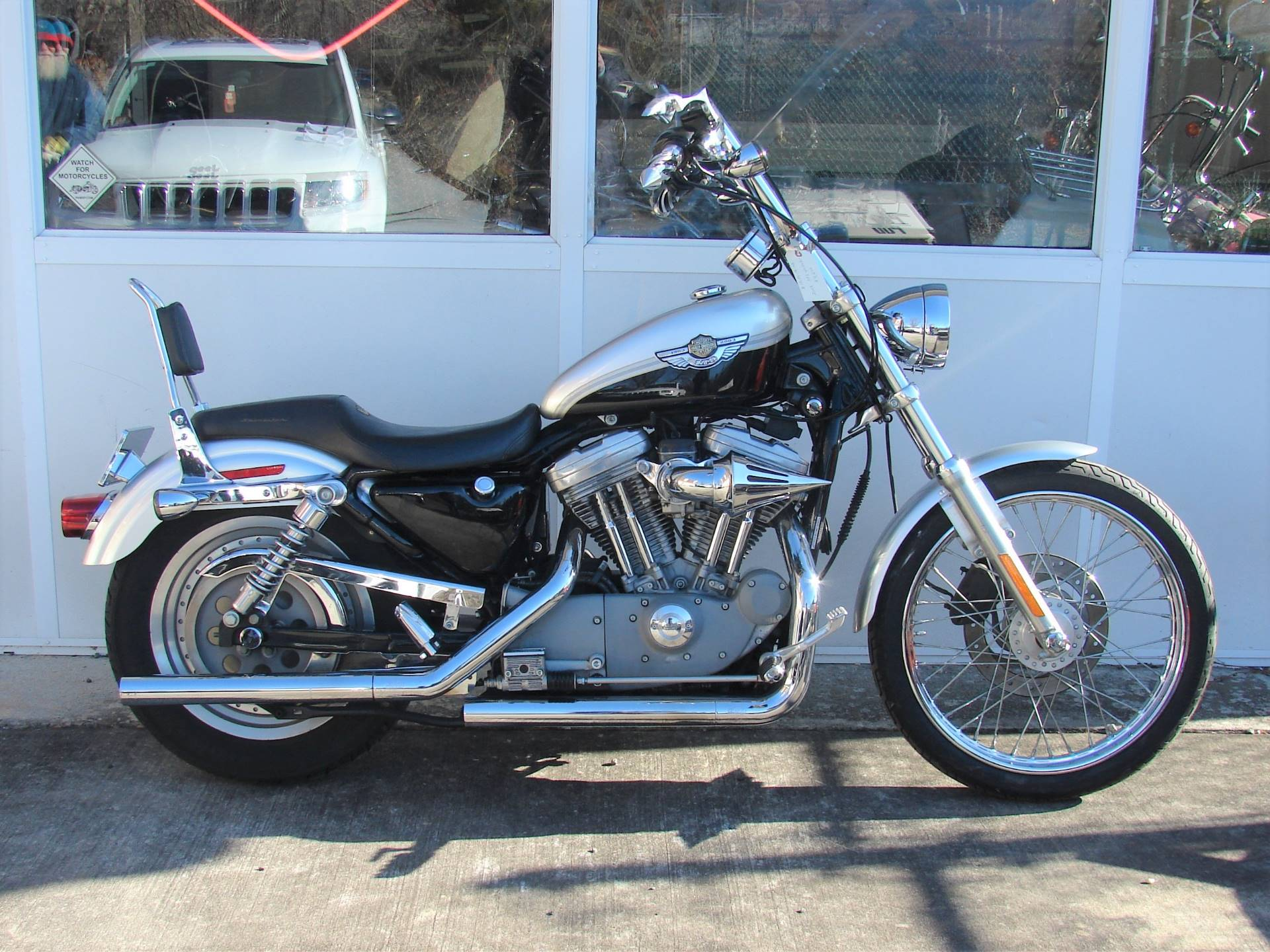 2003 Harley-Davidson XLH 883 Sportster (Anniversary Edition) (Silver & Black) in Williamstown, New Jersey - Photo 9