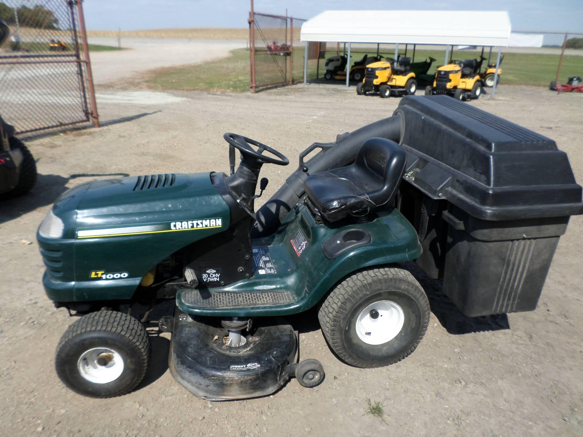 Craftsman Lt1000 Riding Mower >> Used 2001 Craftsman Lt1000 Lawn Mowers In Lake Mills Ia Stock