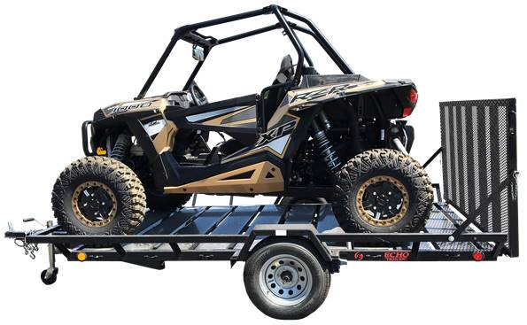 2021 Echo Trailers 2-Place Extra-Width Extra-Length ATV/UTV Trailer in Spearfish, South Dakota - Photo 8