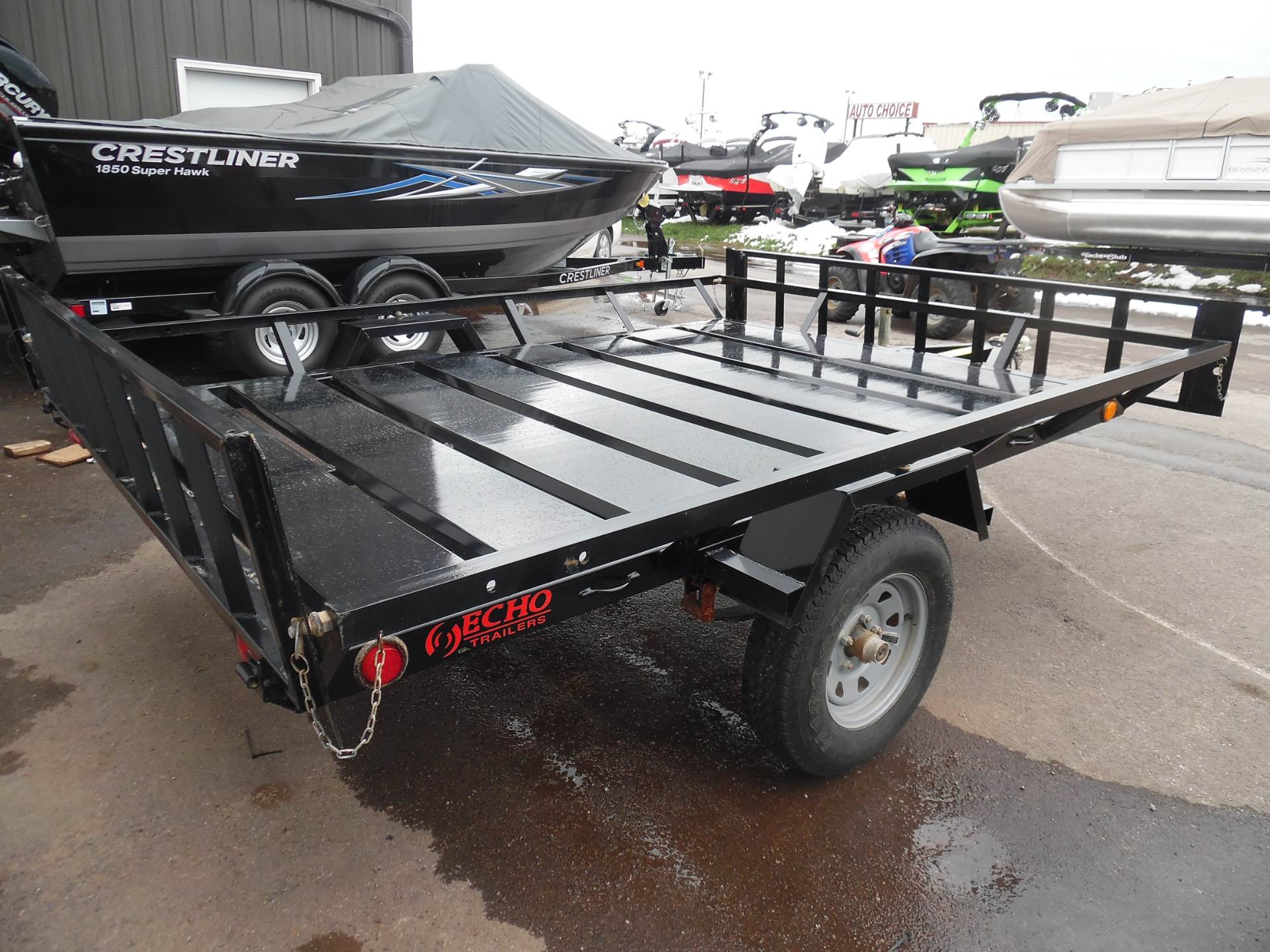 2017 Echo Trailers 2-place Extra Wide atv/utv trailer in Spearfish, South Dakota - Photo 2